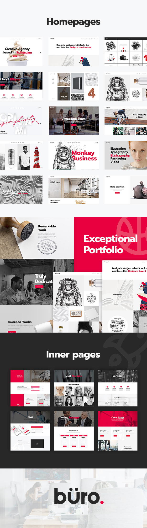 Büro - Creative Agency and Freelancer Theme - 1